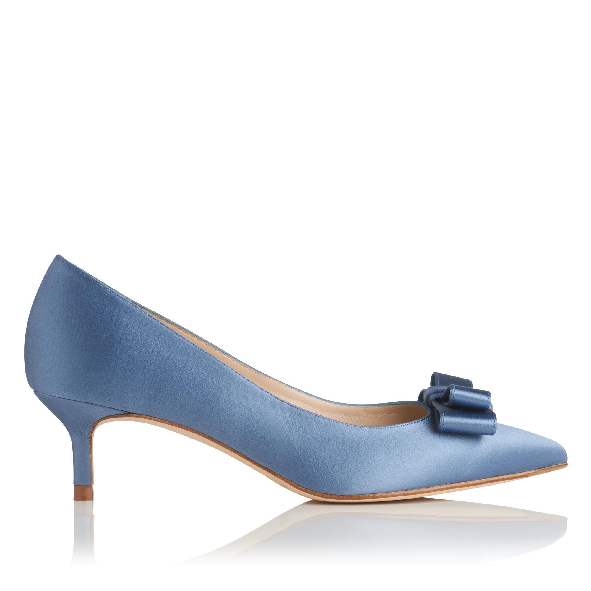 Esme Blue Satin Heel
