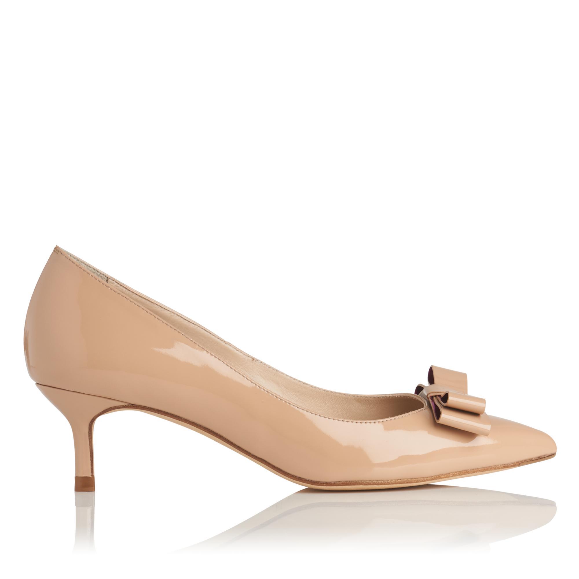 Esme Trench Patent Heel