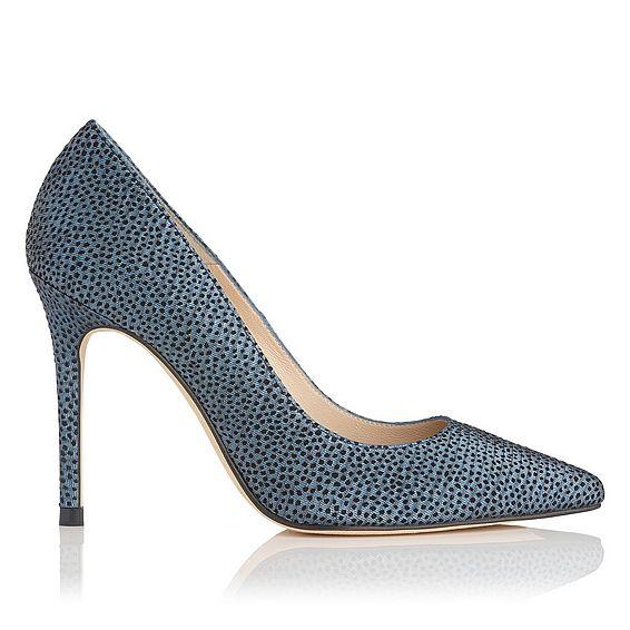 Fern Blue Metallic Heel