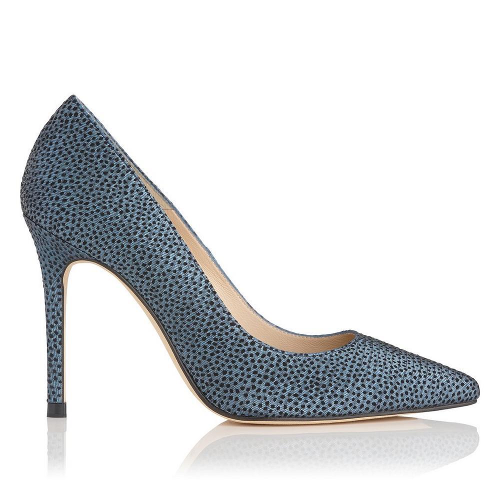 Fern Blue Metallic Heel by L.K.Bennett