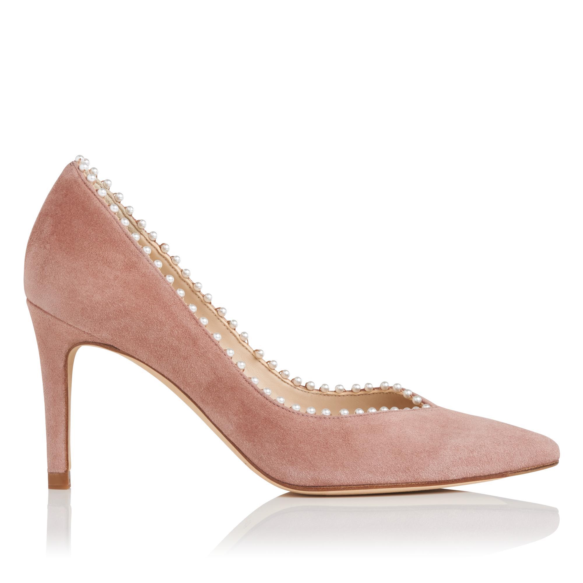Fifi Pink Suede Heel
