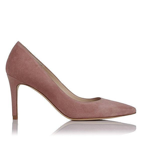 Floret Pink Suede Heel