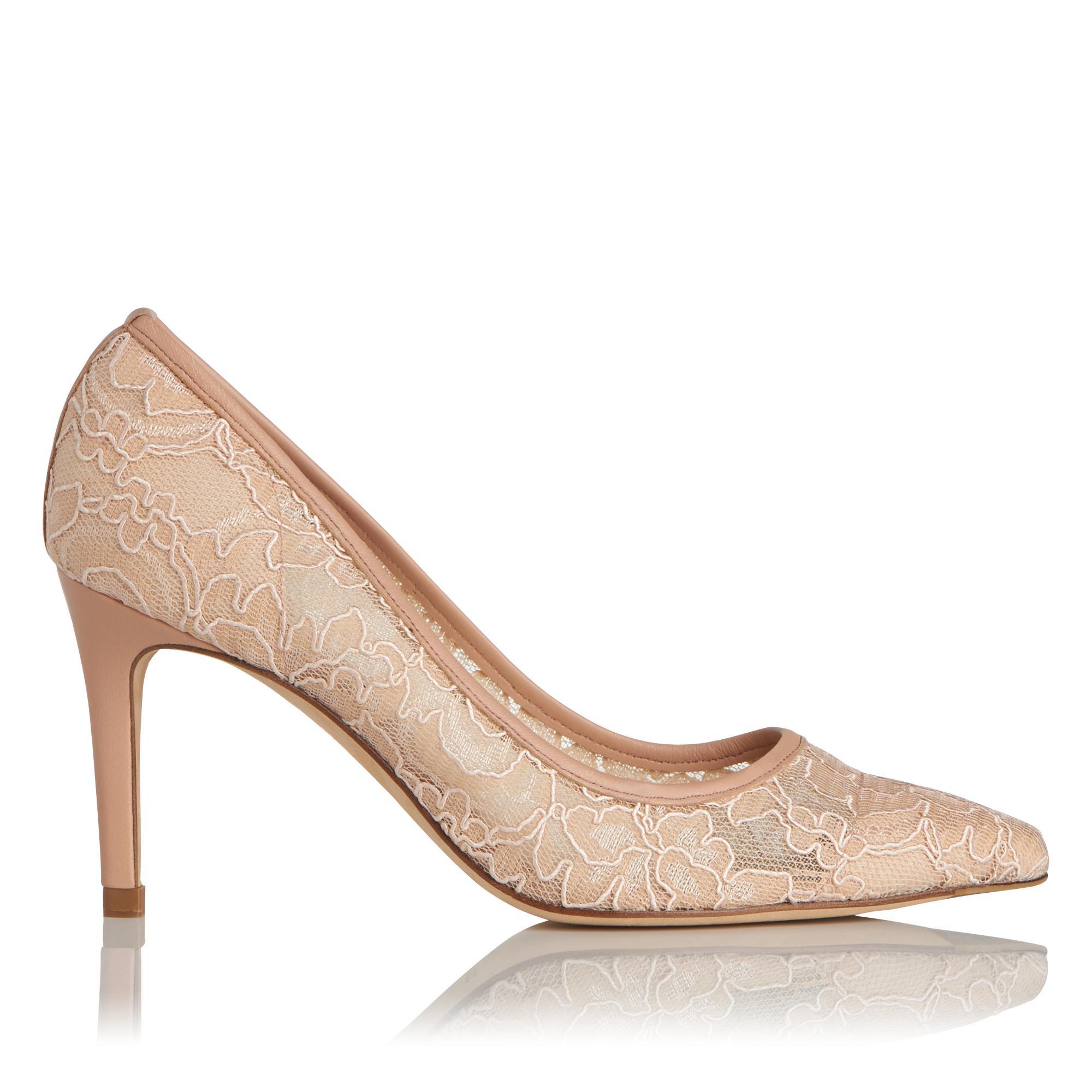 Floret Pink Lace Heel