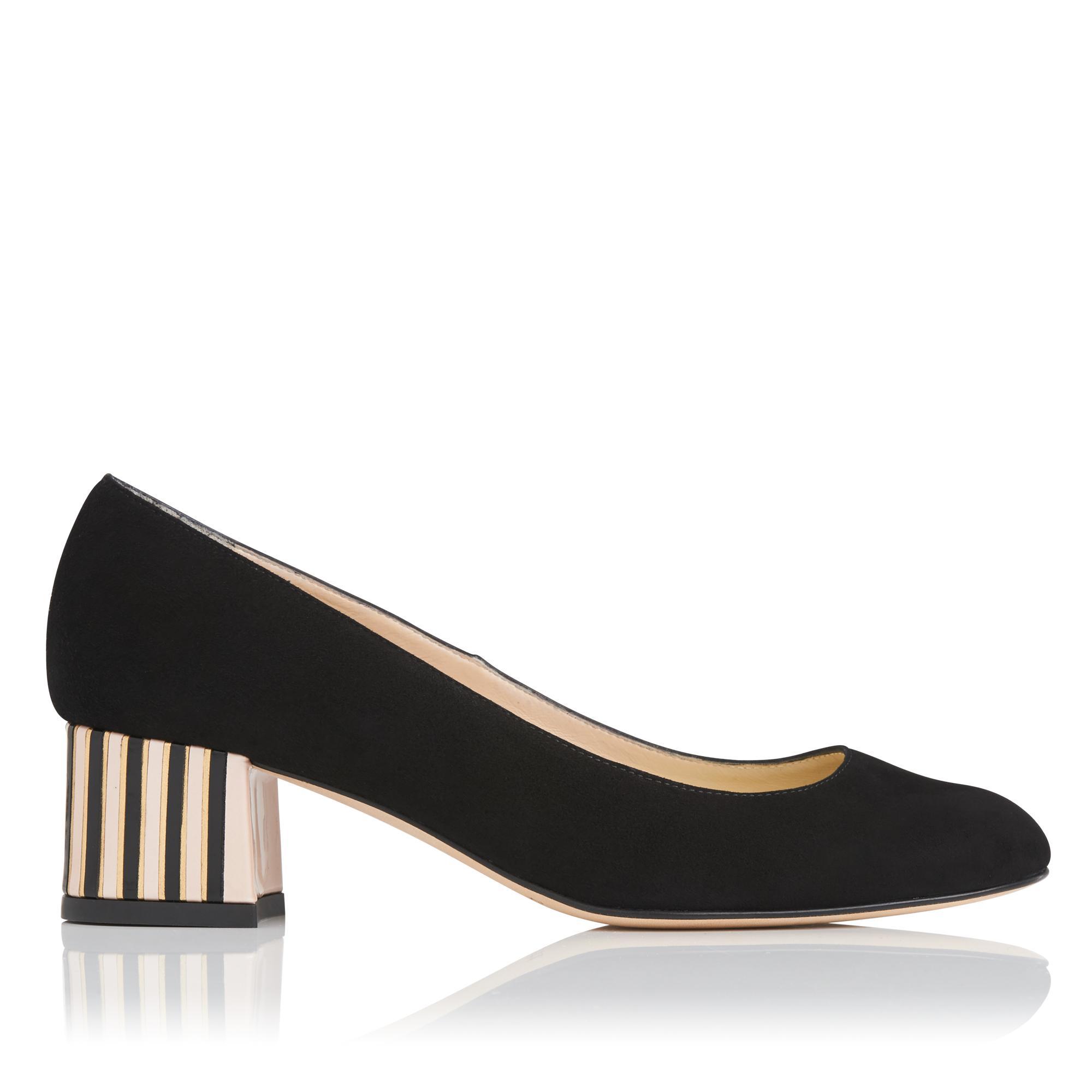 Maisy Black Suede Heel