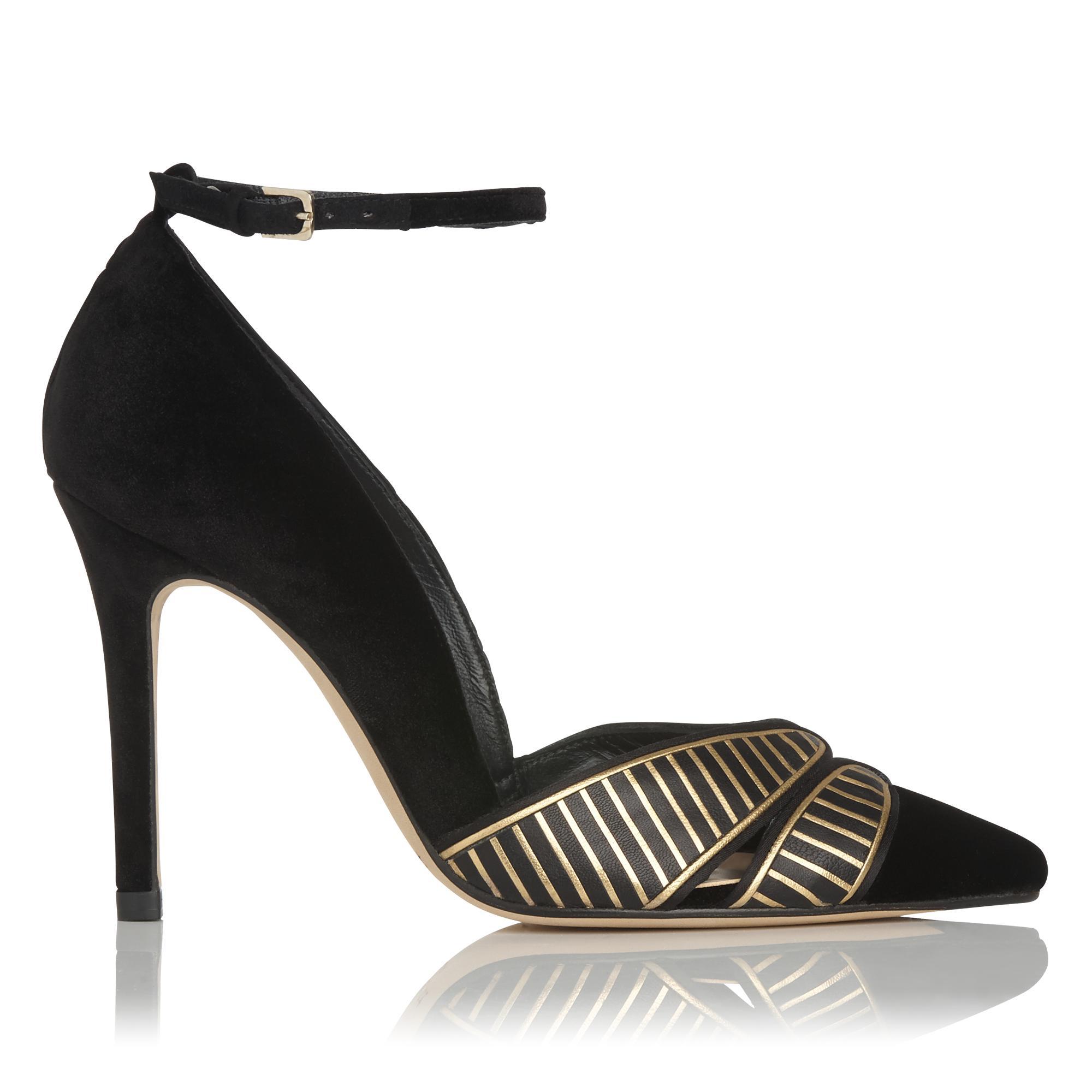 Matilde Black Velvet Heel