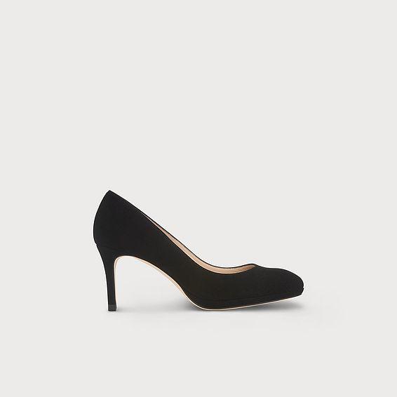 New Sybila Black Suede Heel