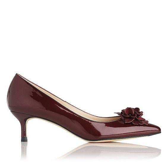 Portia Oxblood Metallic Heel