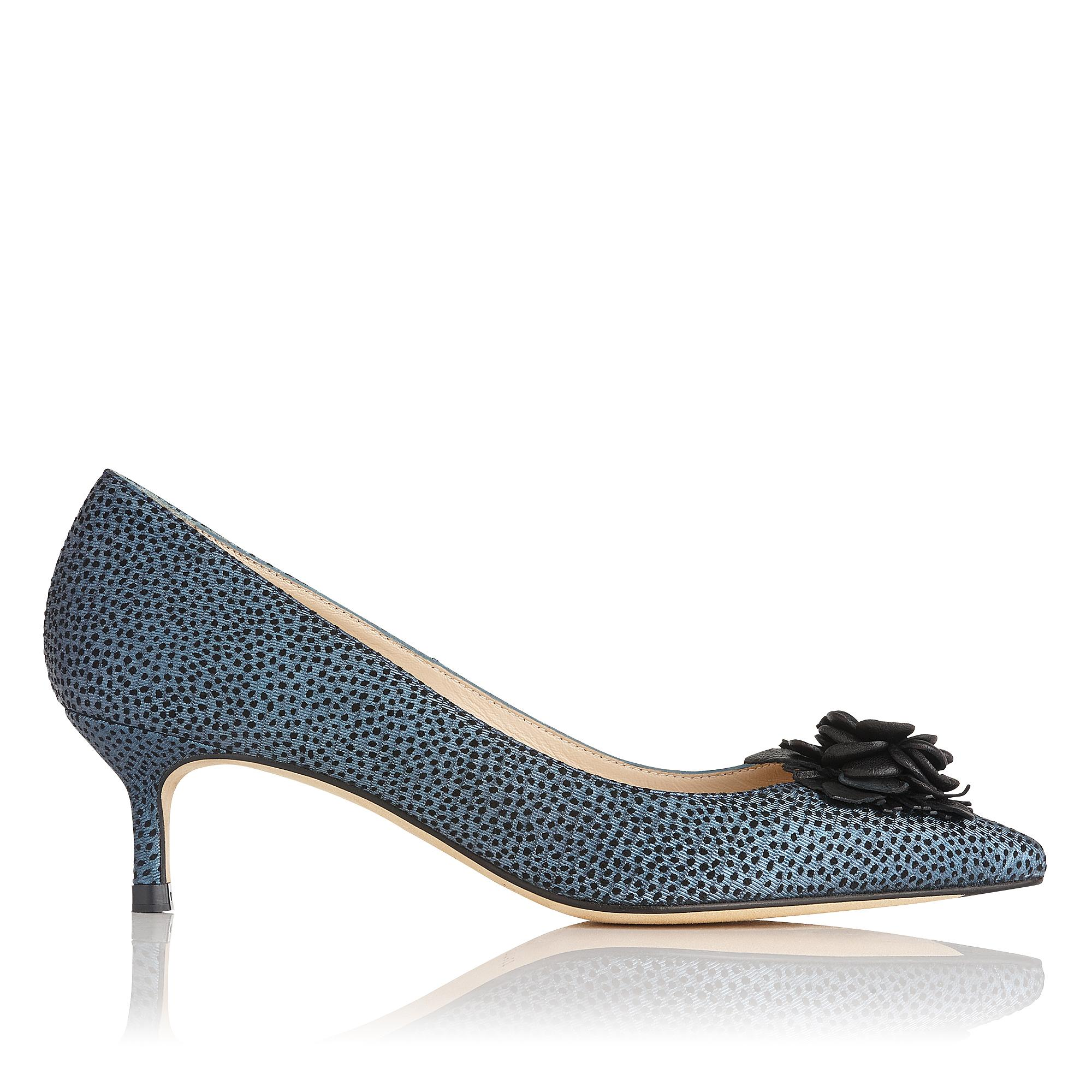 Portia Blue Metallic Heel