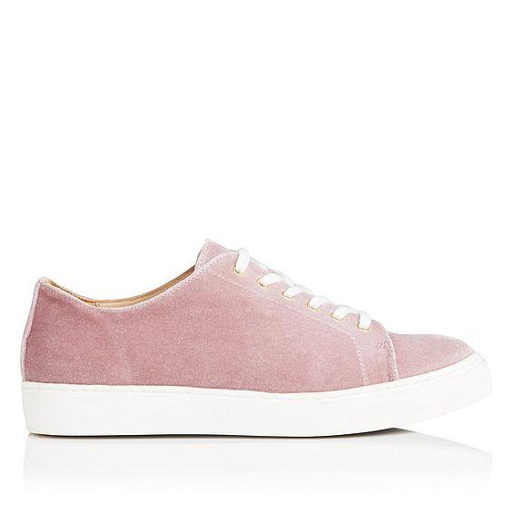 Peyton Pink Velvet Sneaker