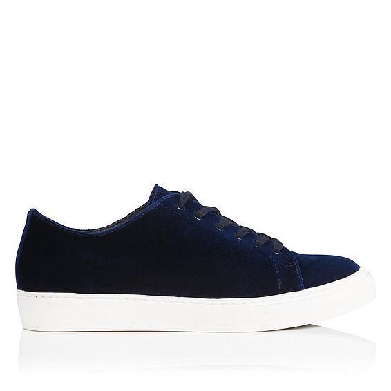 Peyton Navy Velvet Sneaker