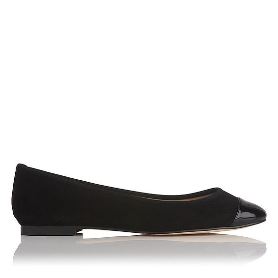 Suzanne Black Suede Ballet Flat