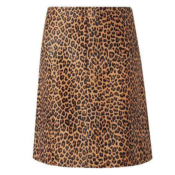 Daxon Animal Print Skirt