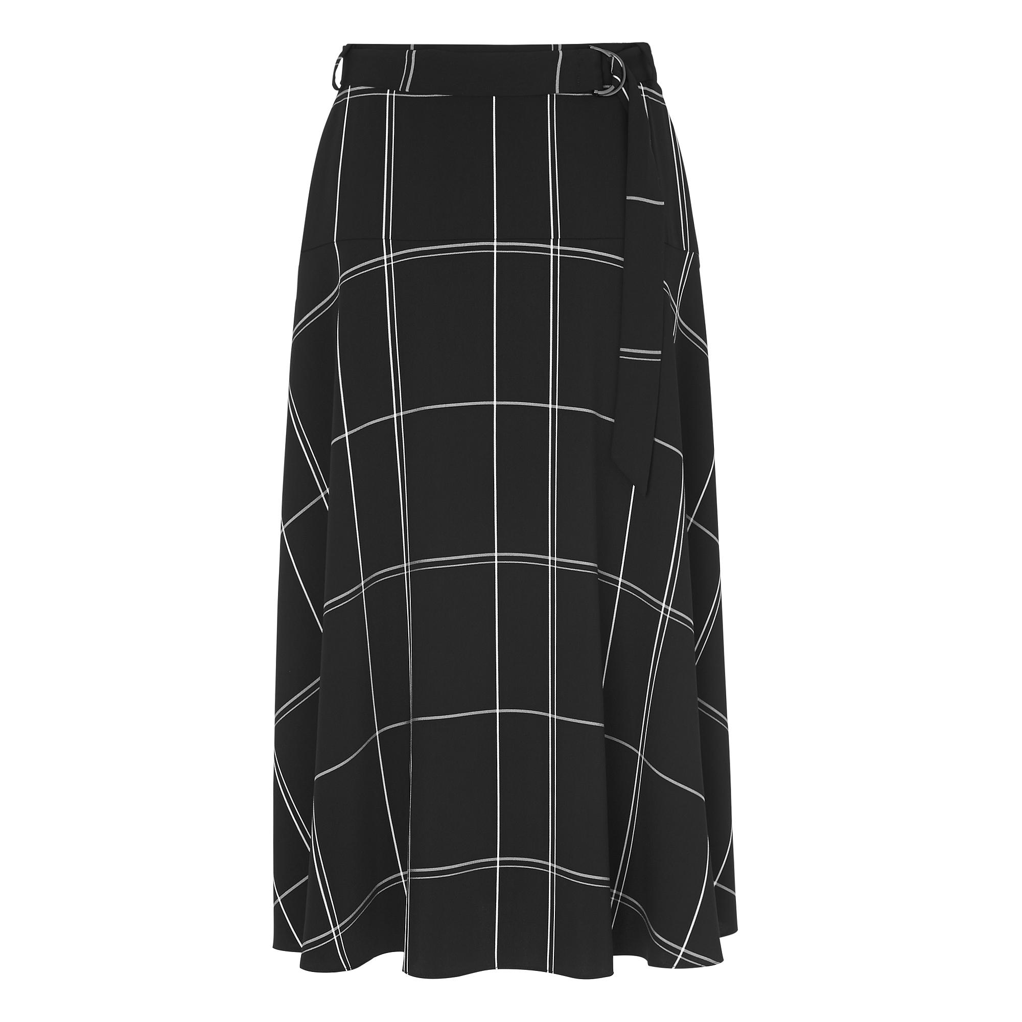 Dinah Black Window Pane Skirt