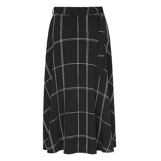 Dinah Black Window Pane Skirt