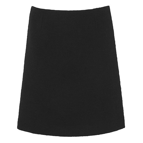 Gee Black Tweed Skirt