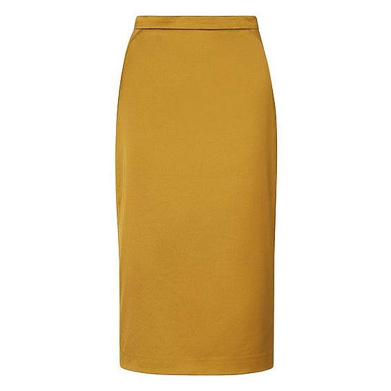 Miranda Yellow Pencil Skirt