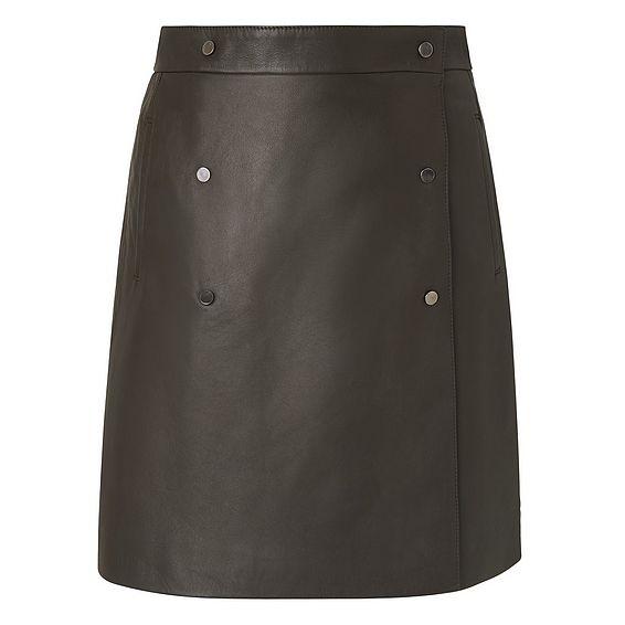 Tina Green Leather Skirt