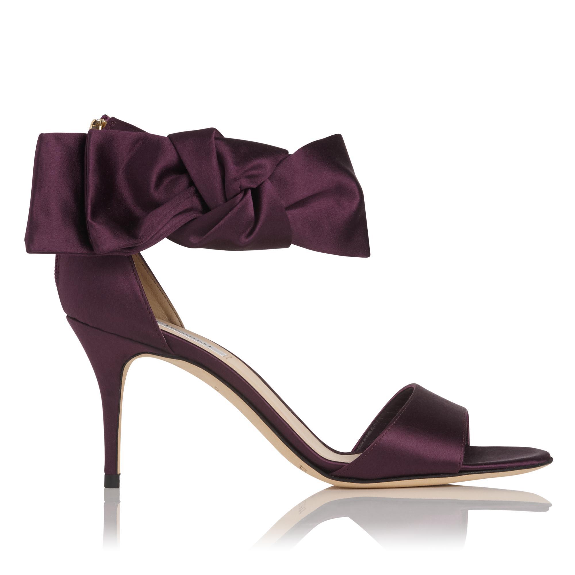 Agata Loganberry Satin Sandal
