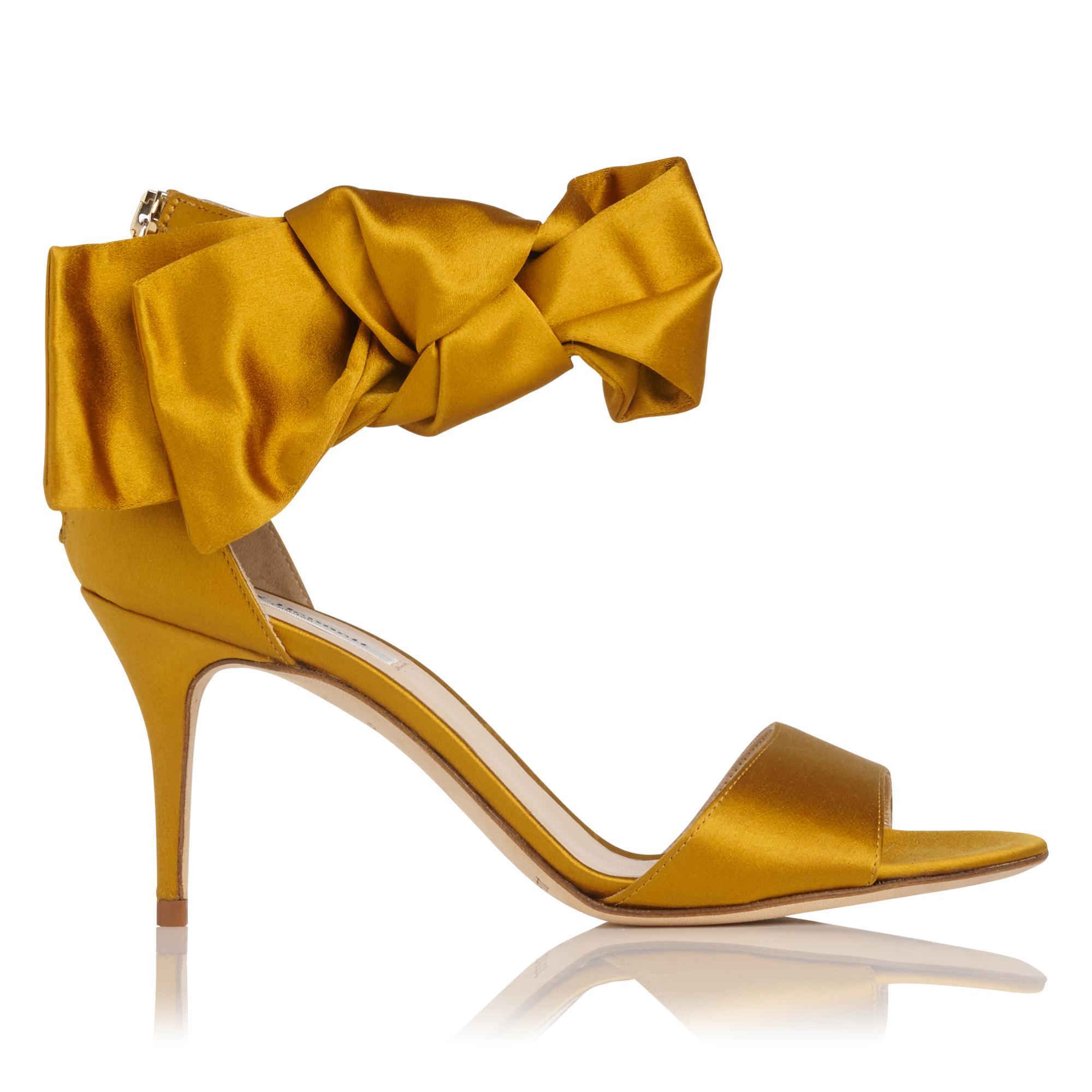 Agata Gold Satin Sandal
