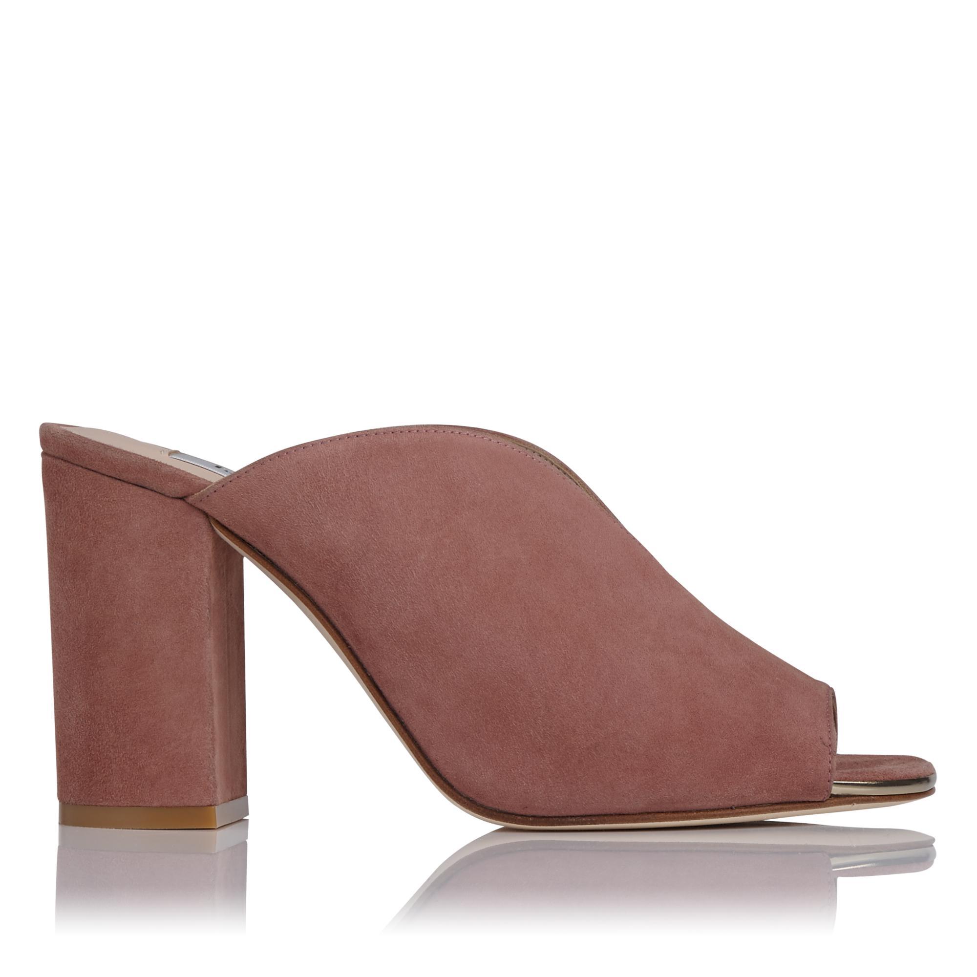 Carmela Pink Suede Mules