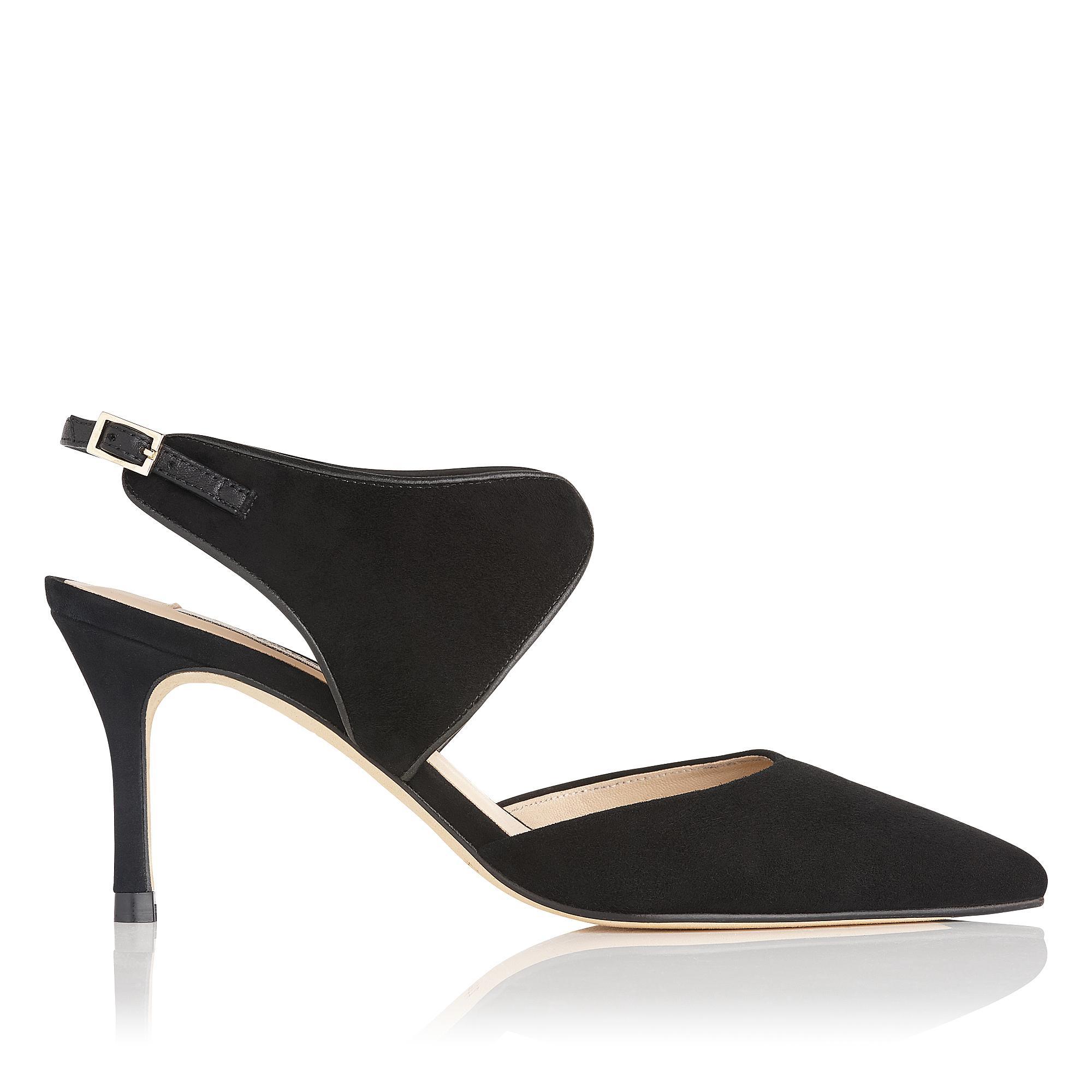 Cecily Black Suede Heel