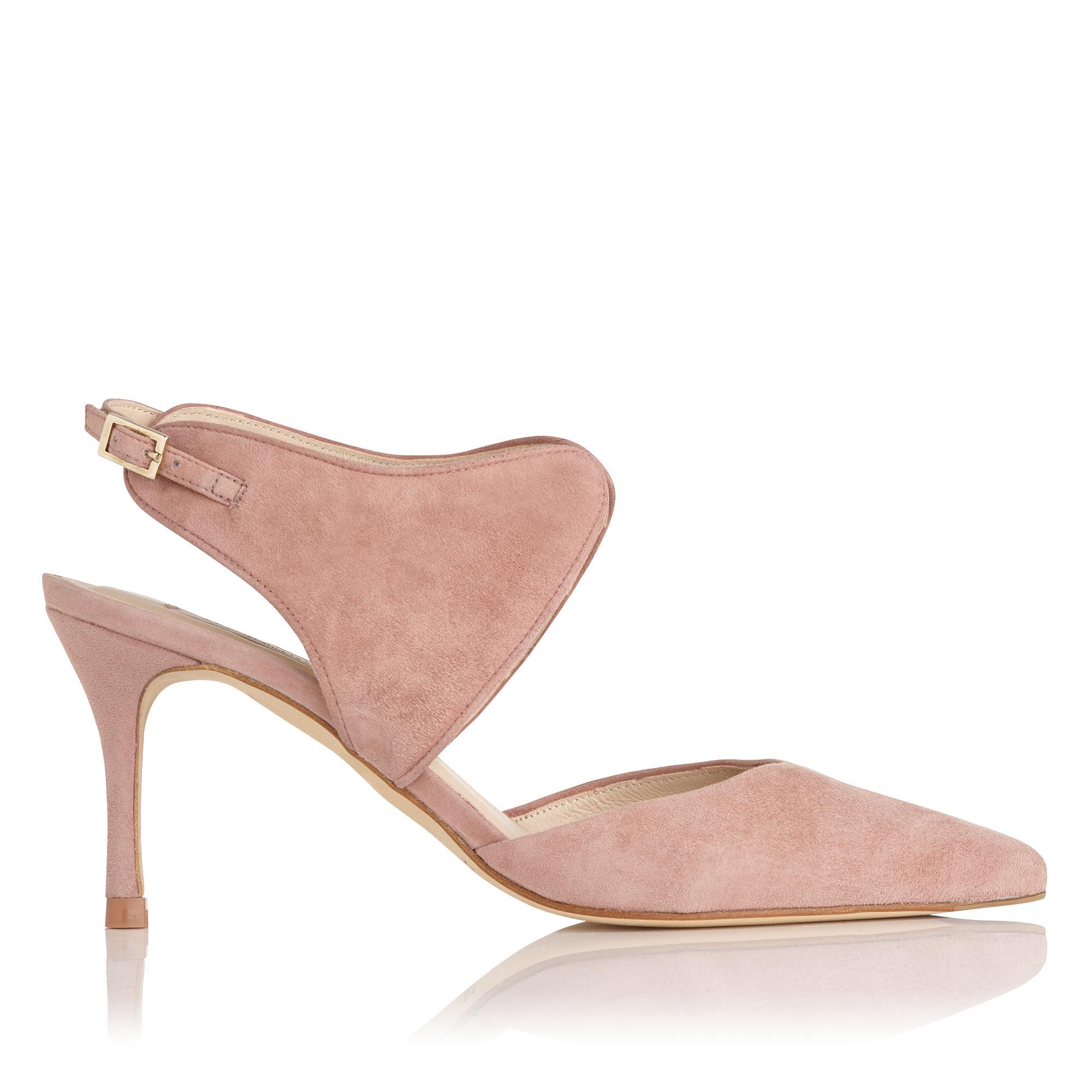 Cecily Pink Suede Heel