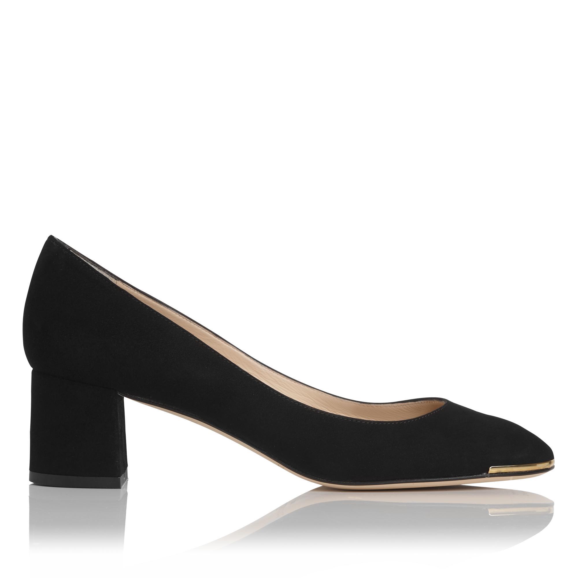 Clemence Black Suede Heel
