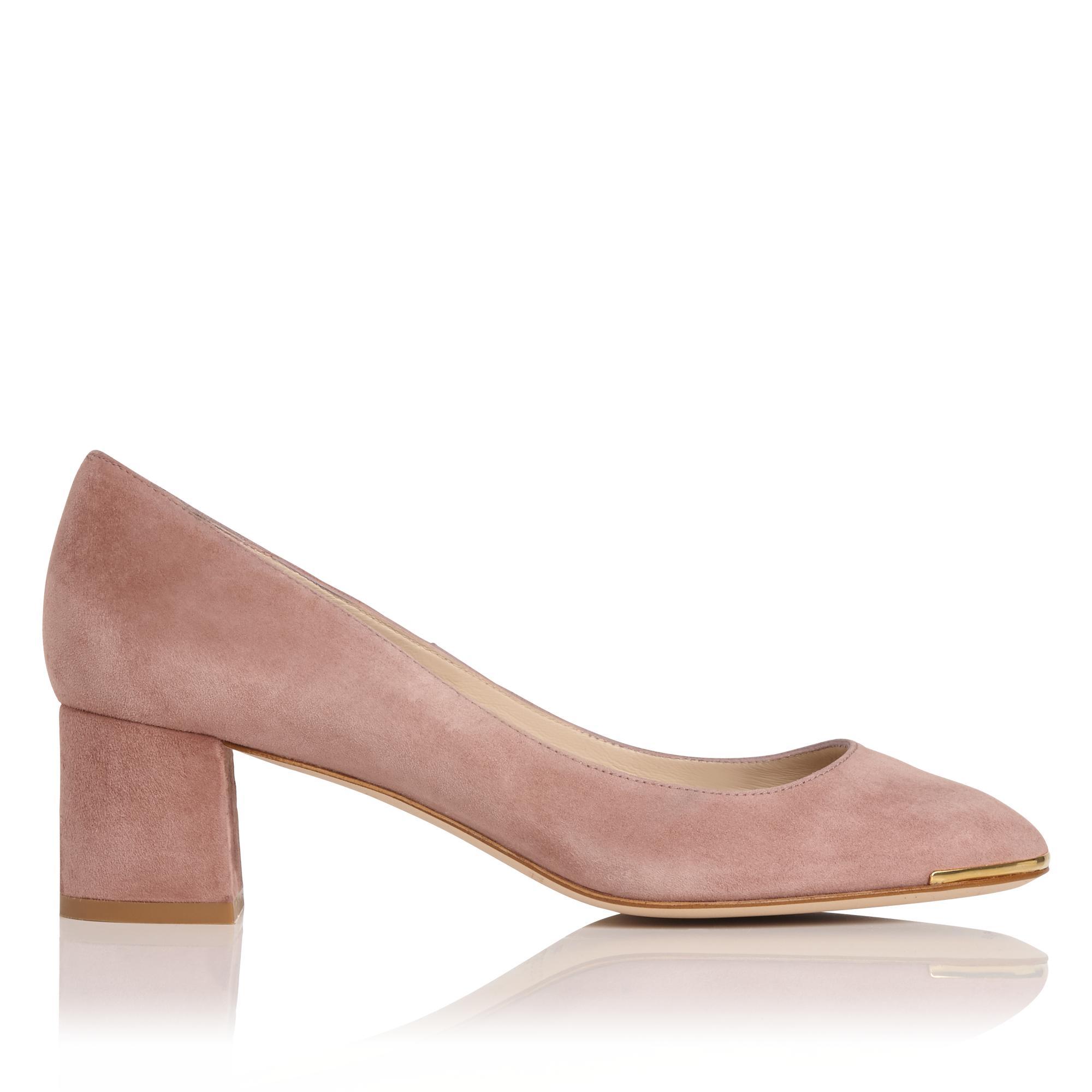 Clemence Pink Suede Heel