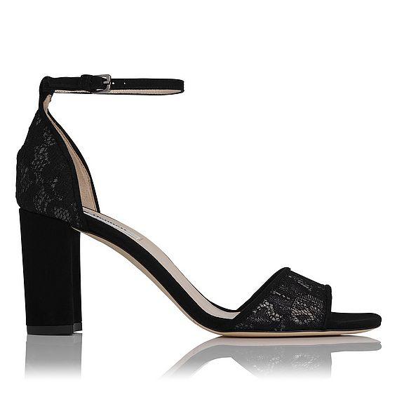 Helena Black Lace Heel