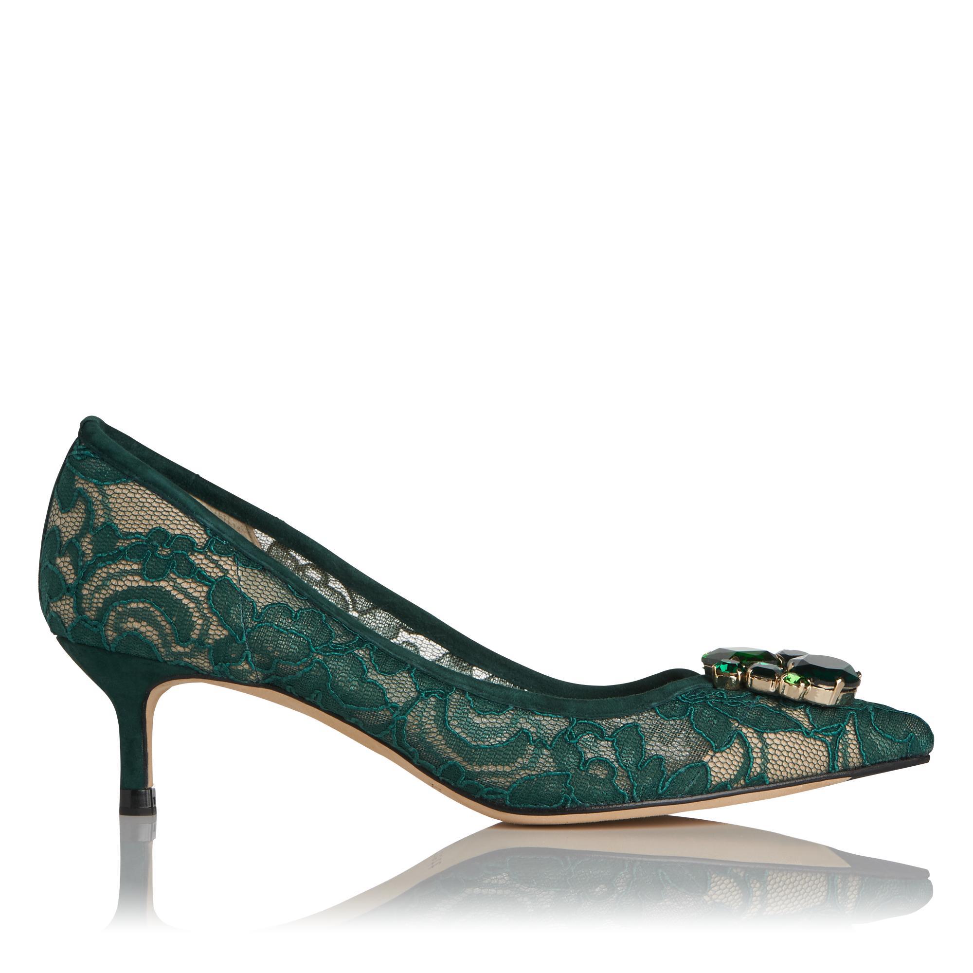 Juliet Green Lace Heel