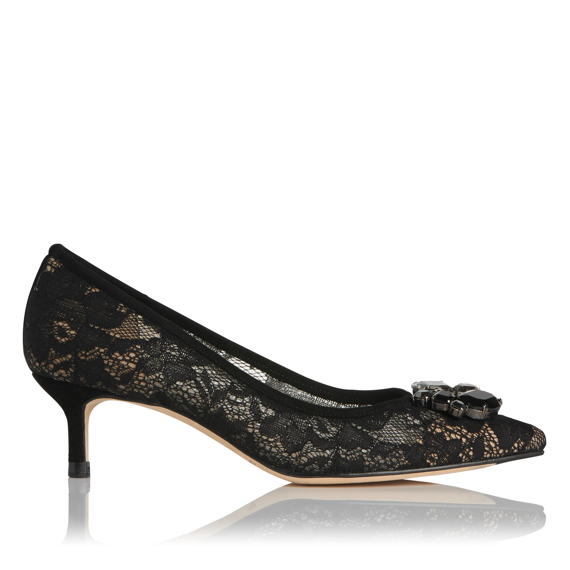 Juliet Black Lace Heel