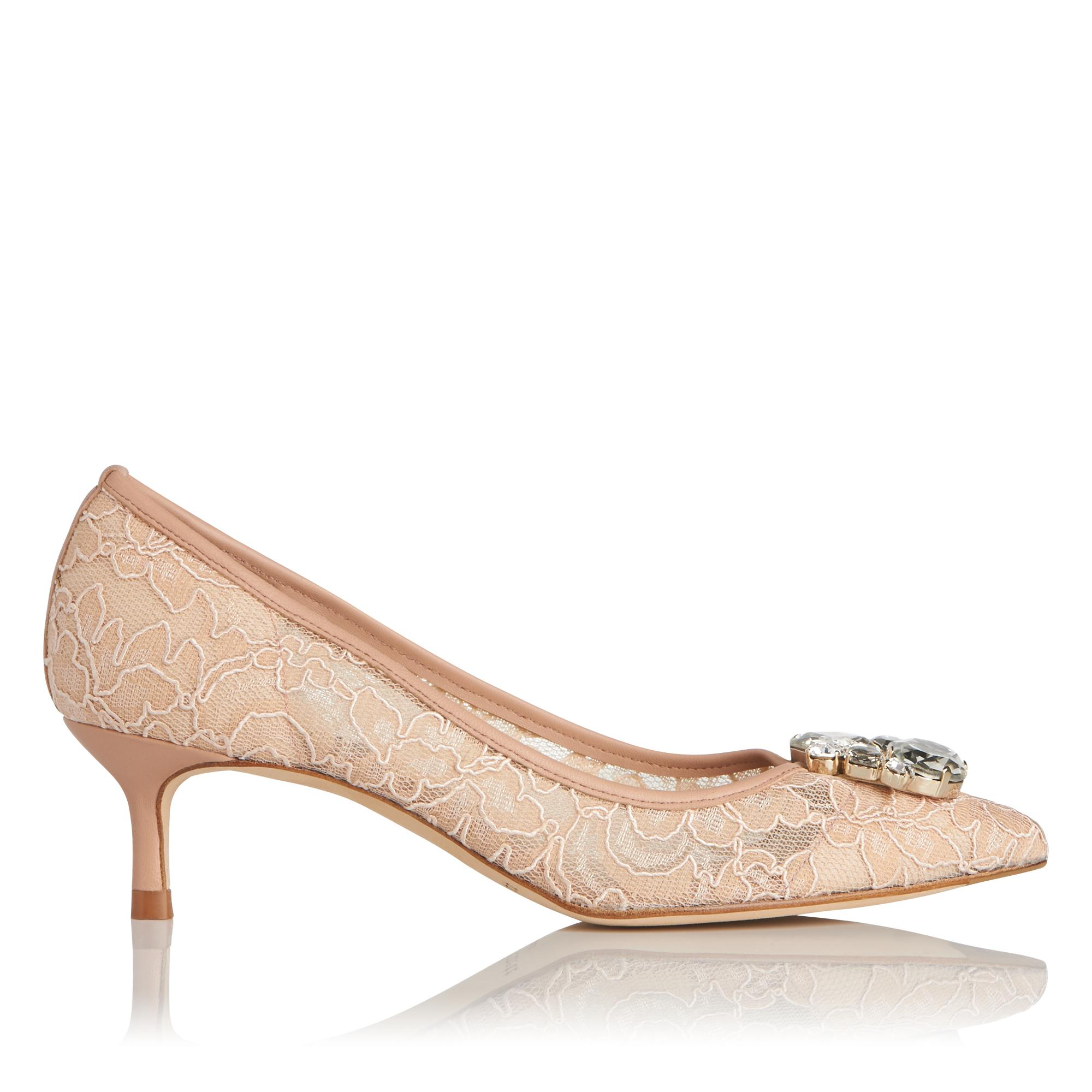 Juliet Pink Lace Heel
