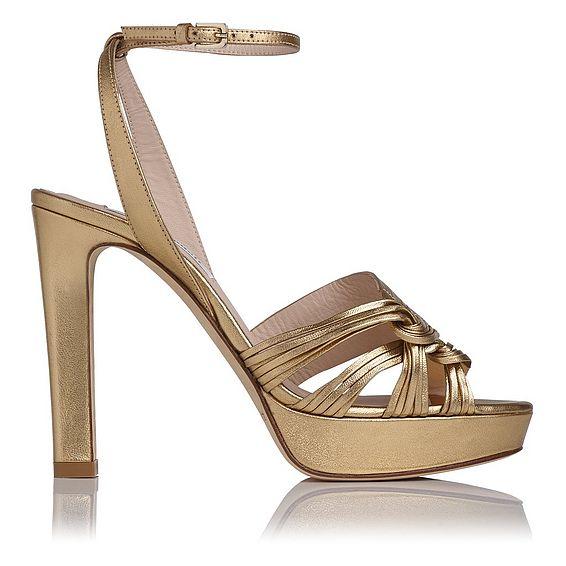 Leighton Gold Metallic Sandal