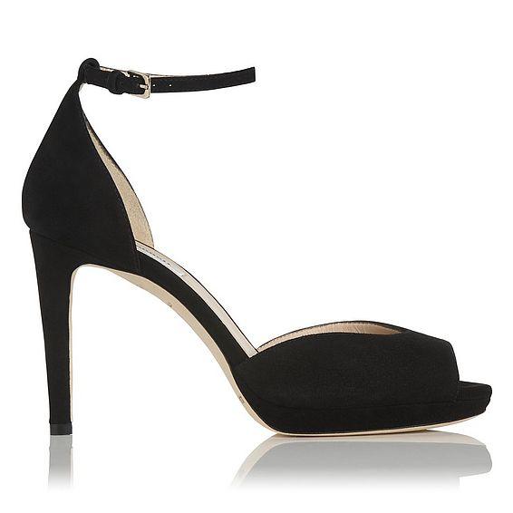 Yasmin Black Suede Sandal