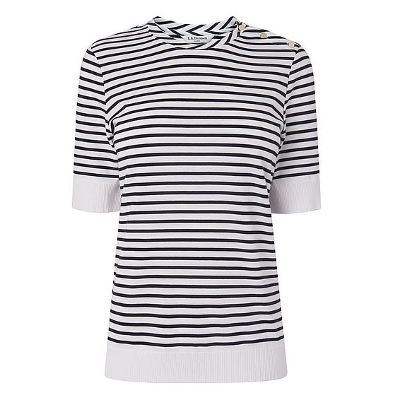 Antonia Navy and White Stripe Top