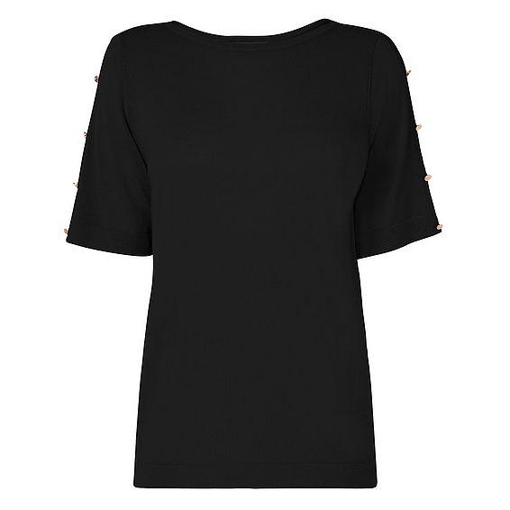 Moira Black Knit Top