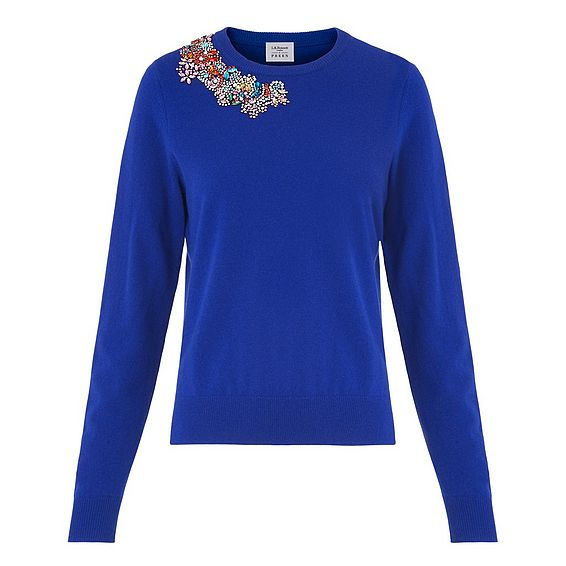 Patti Blue Embroidered Sweater