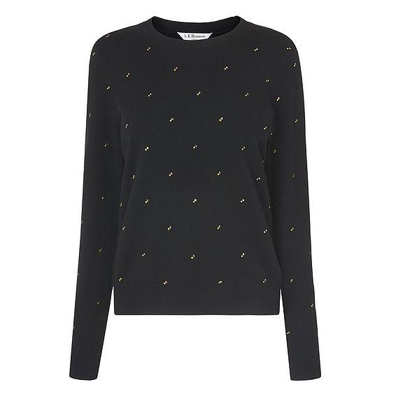 Savannah Black Embellished Sweater