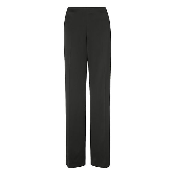 Delaux Black Wide Leg Trousers