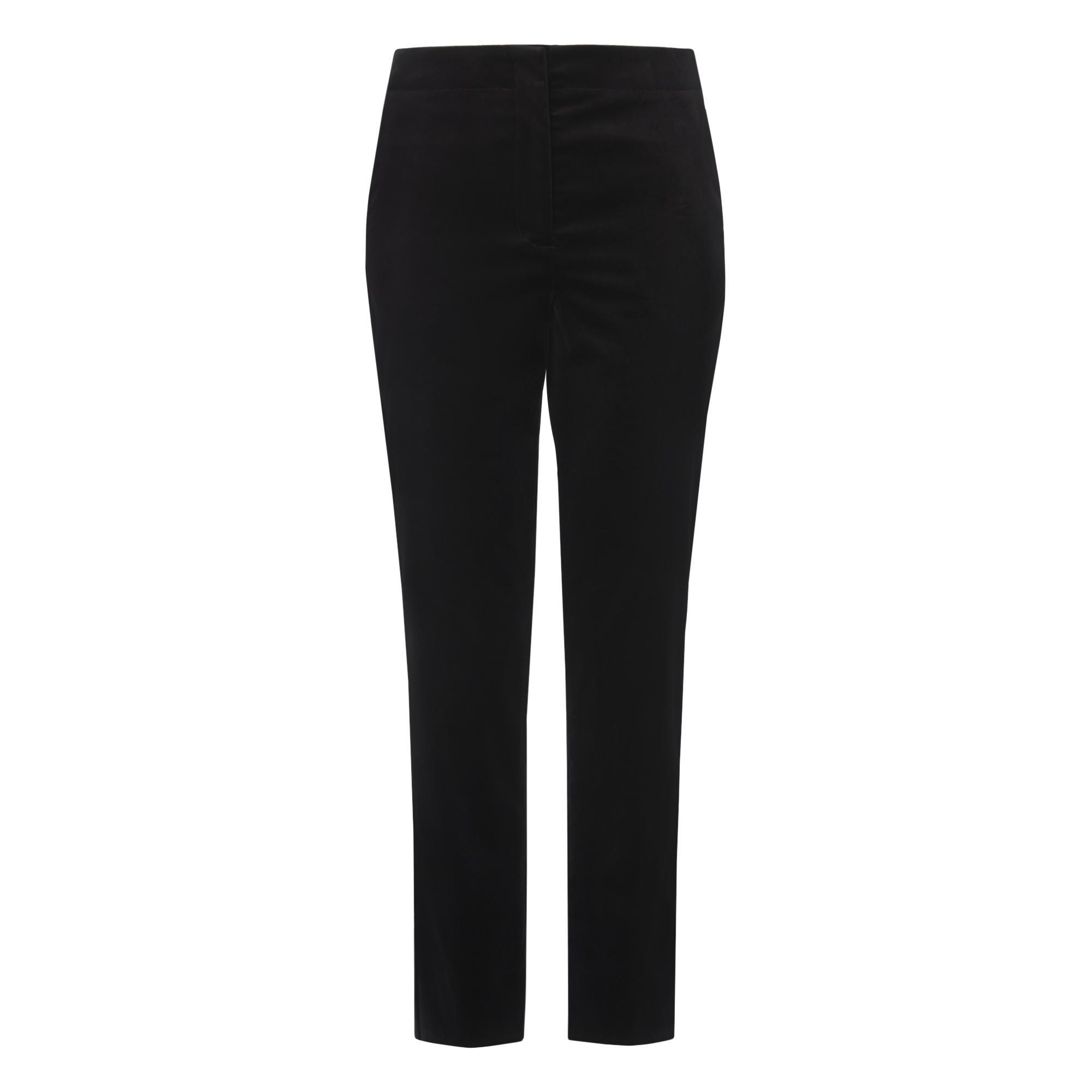 Lilly Black Velvet Cropped Trousers