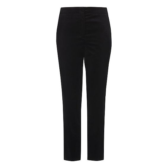 Lilly Black Velvet Cropped Trousers