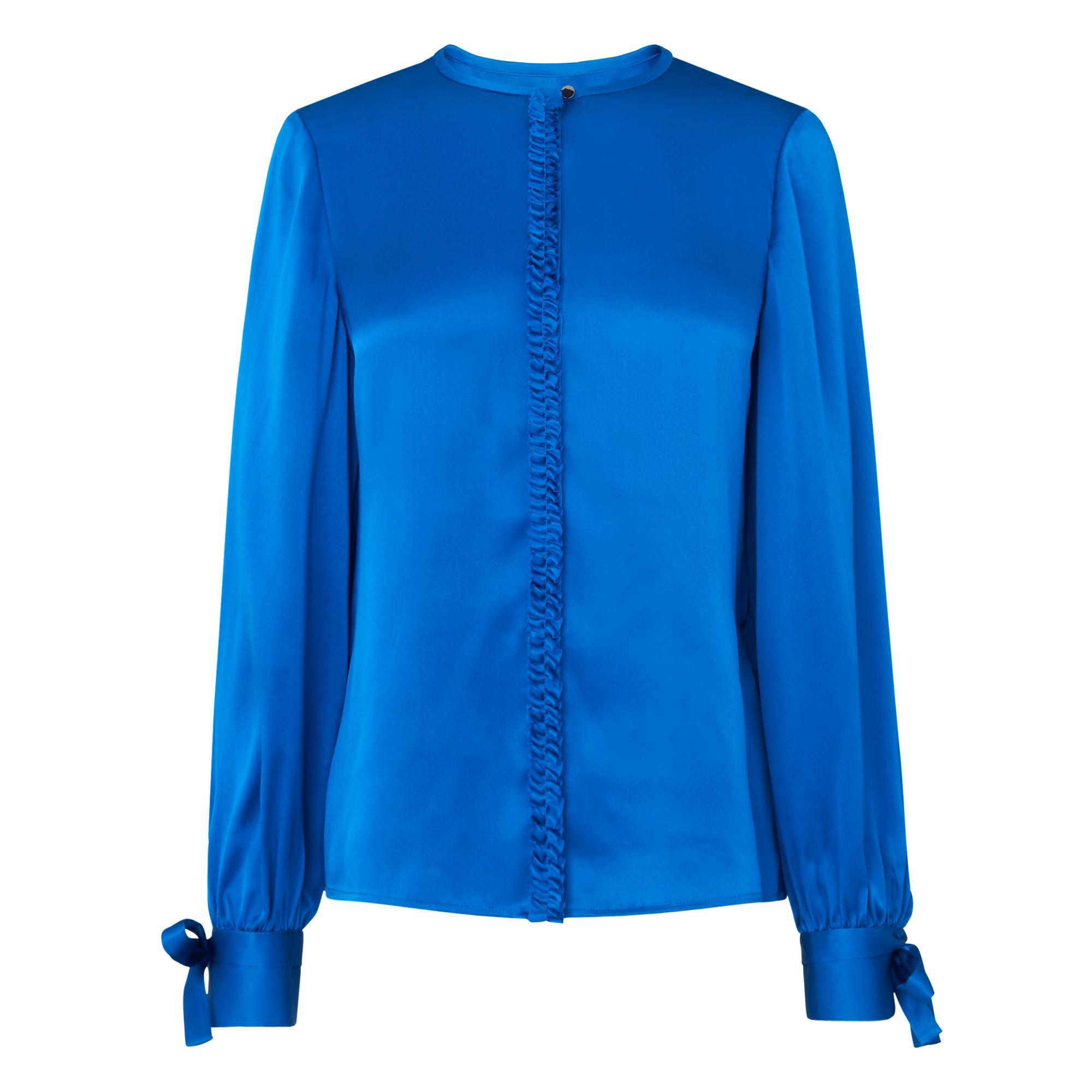 a2b14b1a72d1a Aalia Blue Silk Top
