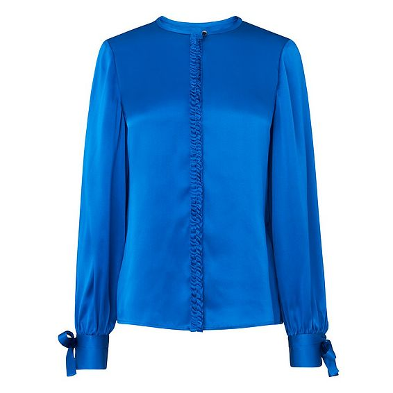 Aalia Blue Silk Top
