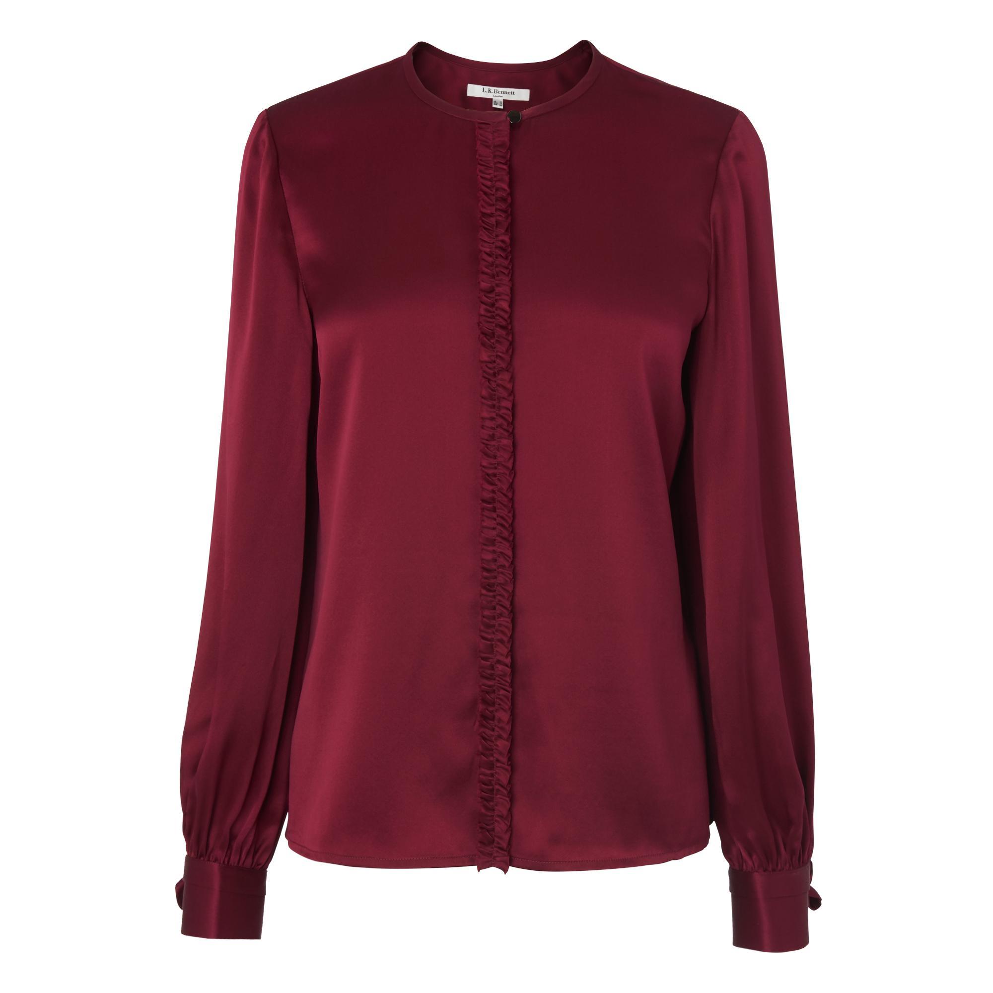 eaecb39138353 Aalia Red Silk Top