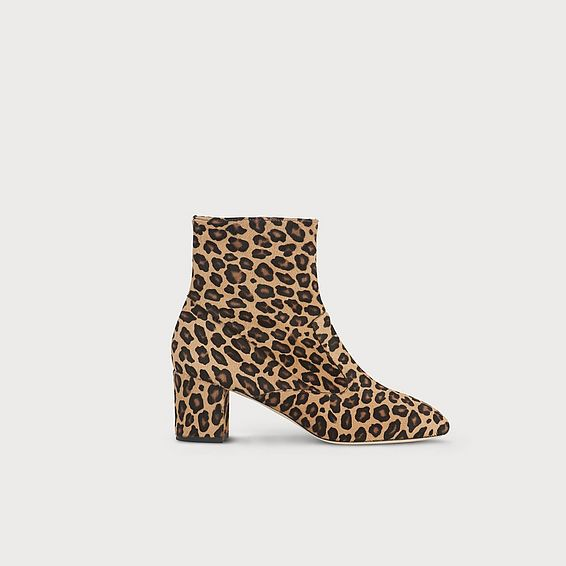 Alexi Leopard Haircalf Ankle Boots
