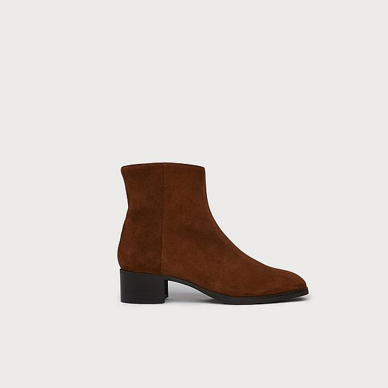 Ameli Brown Suede Ankle Boots