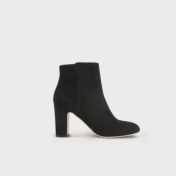 Ayla Black Suede Ankle Boots