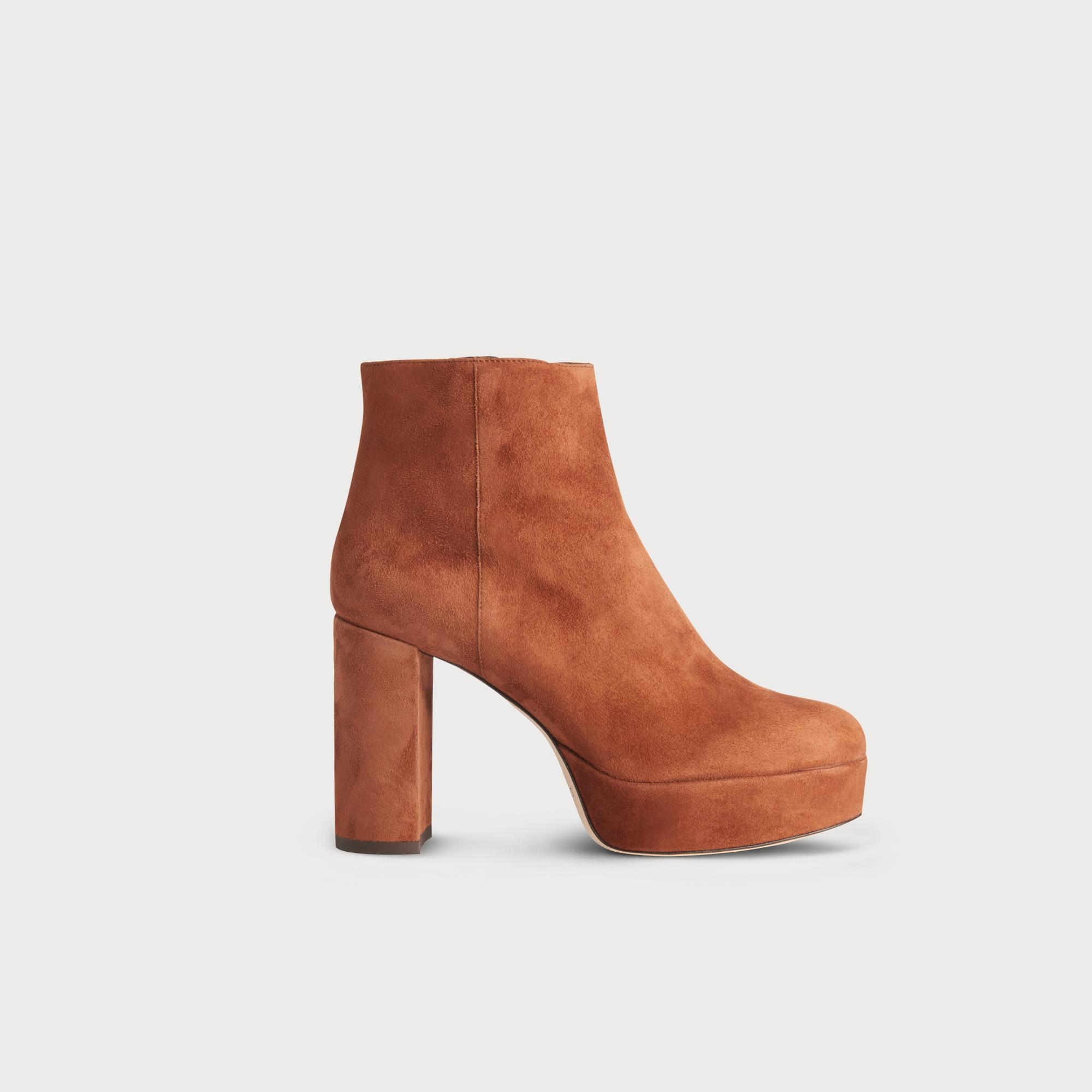 Katelyn Chestnut Suede Ankle Boots