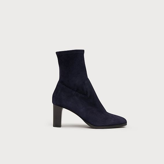 Kayla Navy Suede Ankle Boots