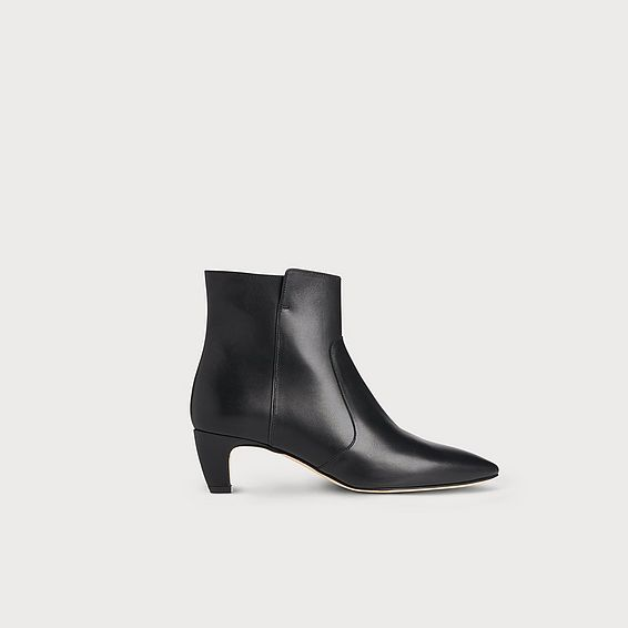 Meadow Black Leather Ankle Boots
